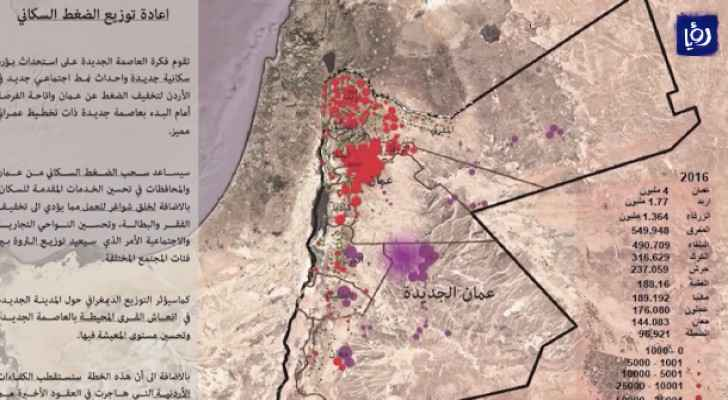 Plans for the 'new Amman city.' (File photo)