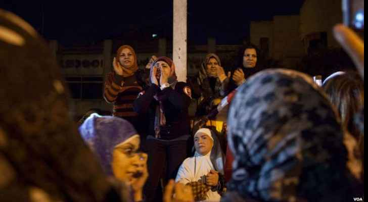 Women at a protest in Cairo (Wikimedia Commons)