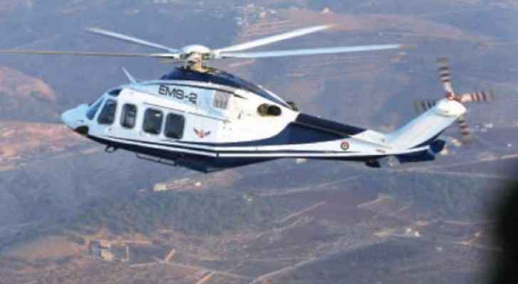 The patient, who was in a car accident, was transported by the Jordanian Air Force by royal decree.