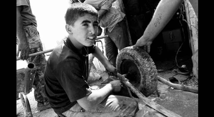 Children must be 16 before they can legally work in Jordan. (Photo by Nader Daoud)