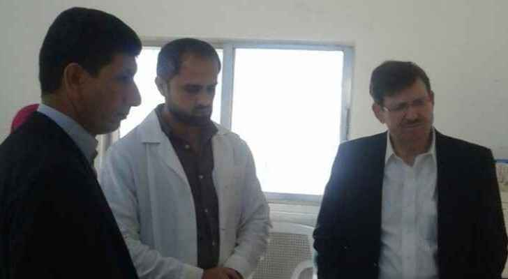 Minister of Health, Mahmoud Shayyab (right), often conducts tours of hospitals and medical centers in governorates.