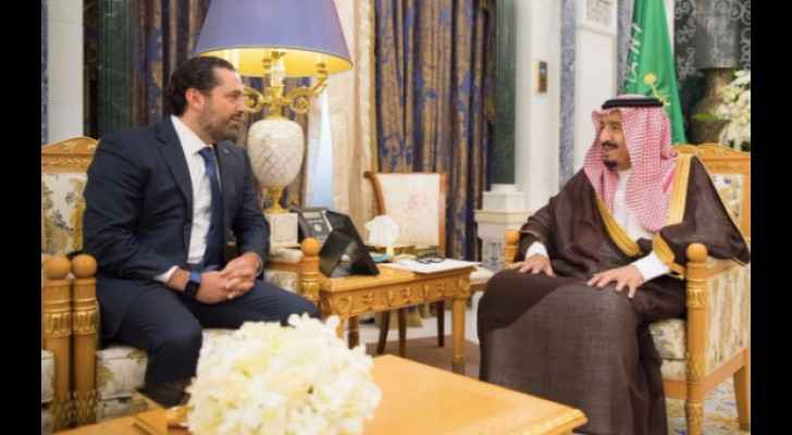 Hariri with the Custodian of the Two Holy Mosques. (Twitter)