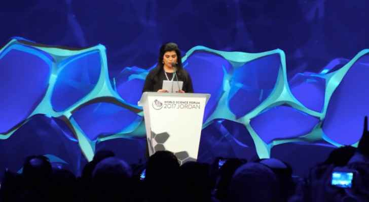 Princess Sumaya addresses delegates at the WSF opening ceremony (Twitter)