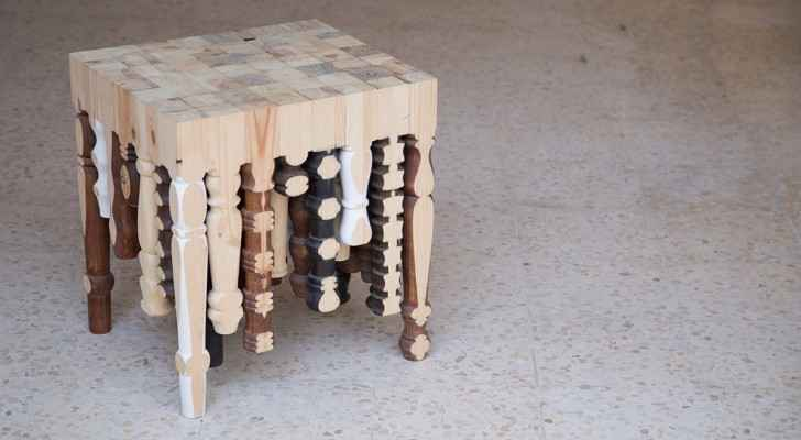 A chair made by a Jordanian designer that went on display during Amman Design Week. (Amman Design Week's website)