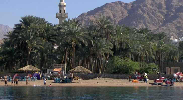 Aqaba beach (Wikimedia Commons)