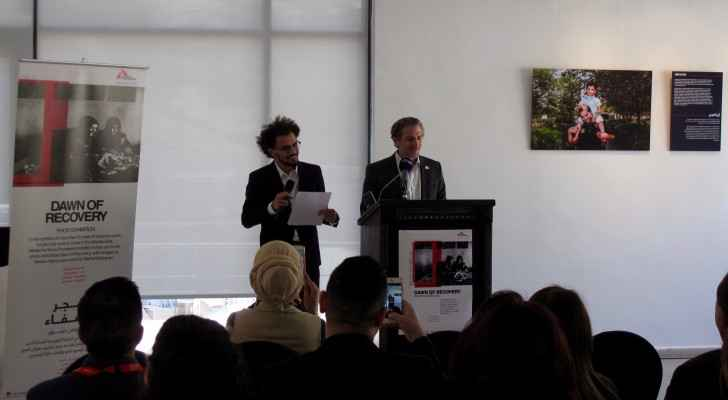 Marc Schakal, MSF's Head of Mission in Amman, Jordan, at the opening ceremony of Dawn of Recovery. (Roya)