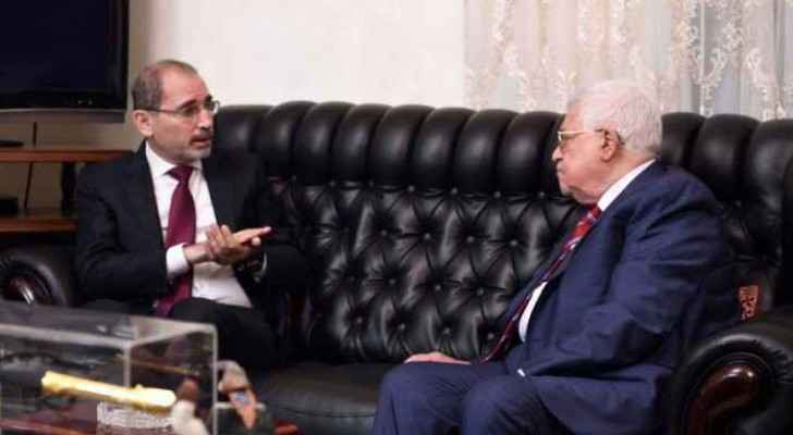 Safadi and Abbas in the meeting.