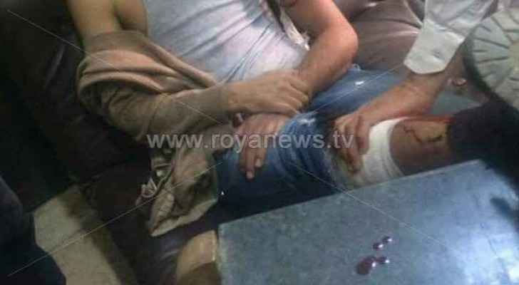 The student attacked the teacher and injured him in his leg and hand, according to a security source.