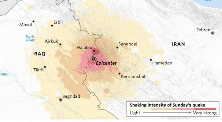 The deadly quake hit the border region between Iran and Iraq (US Geological Survey)