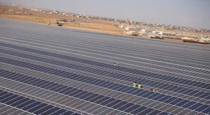 The new solar plant in Zaatari camp. (Twitter)
