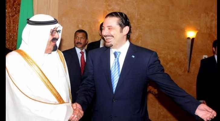 Former Prime Minister Saad al-Hariri during a visit to Saudi Arabia in 2014  (Ya Libnan)