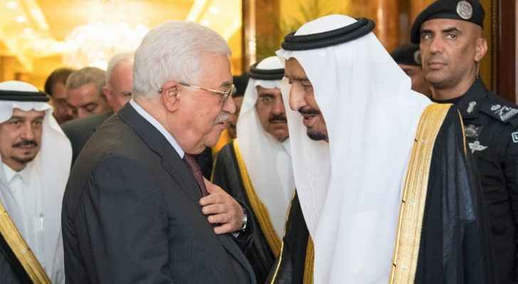 President Abbas meets with King Salman in Riyadh (Saudi Press Agency)