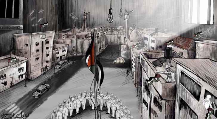 Palestinian Cartoonist Mohammed Sabaaneh cartoon.