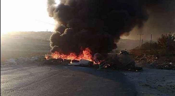 Protestors blocked the road following the killing. (Roya)