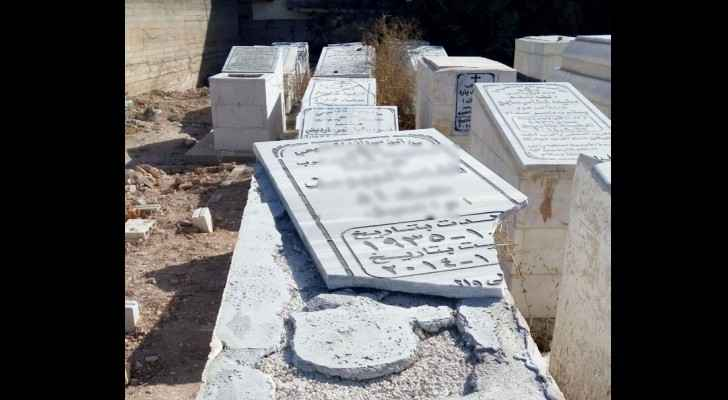 The graves were vandalised