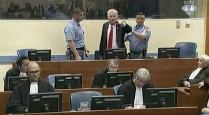 Ratko Mladic began shouting at the judges before his sentence was read out.