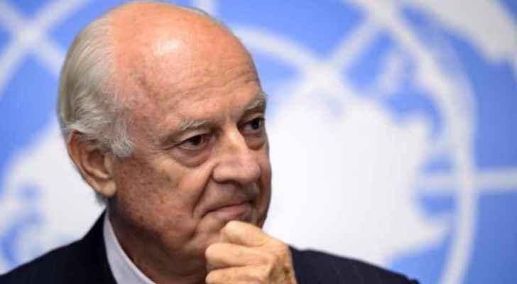 The UN's special envoy for Syria, Staffan de Mistura.