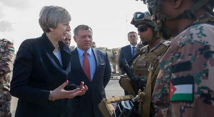 Prime minister Theresa May with King Abdullah II in April 2017 (10 Downing Street)