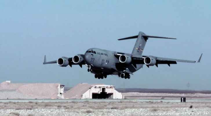 A US Air Force plane lands at a Jordanian air base (DoD)
