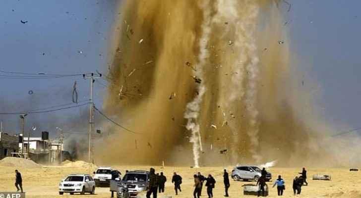Israel hits back Gaza Hamas posts