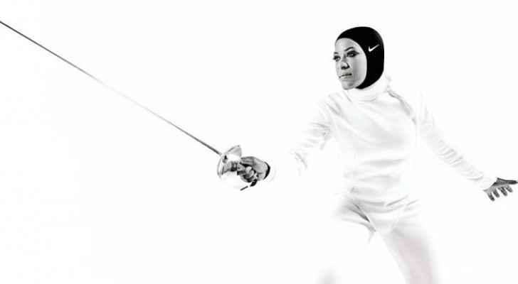 Ibtihaj Muhammad, the Nike athlete and Olympic fencer, who helped Nike in creating the hijab's design. (Nike's Website)