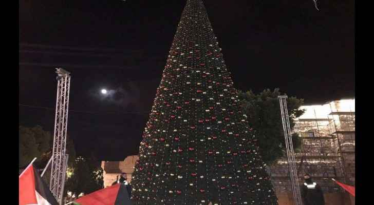 Chirstmas Tree in Bethlehem. (Social Media)