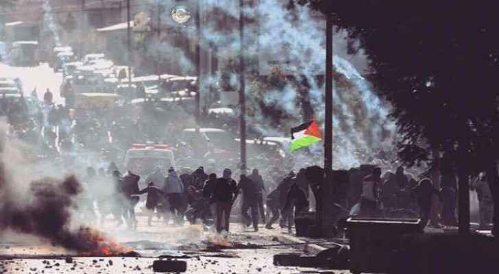 108 Palestinians have been injured in clashes with Israeli forces. (Roya Arabic)