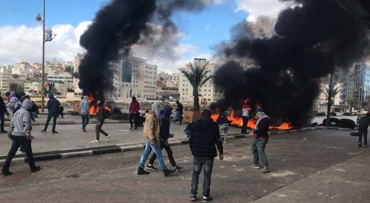 Protests are taking off across the West Bank following Trump's announcement. (Twitter)