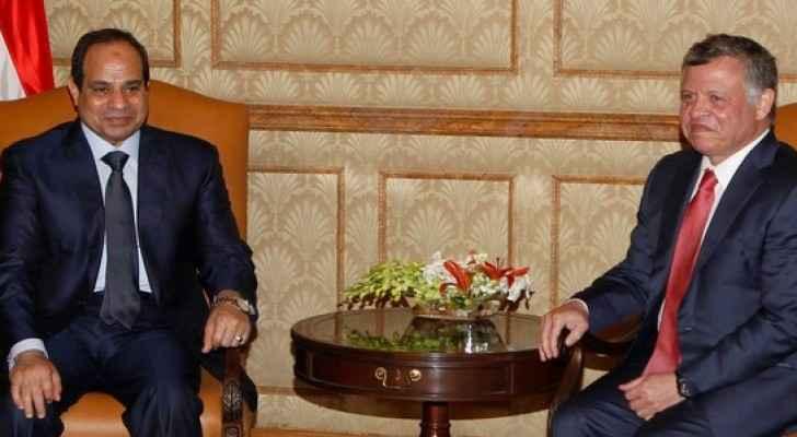 Egyptian President Abdul Fattah called Jordan's King Abdullah II on Sunday.