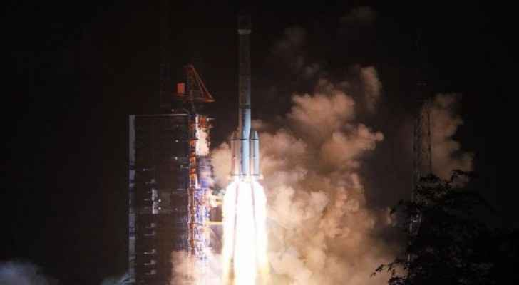 A Long March 3B rocket launches Alergia's Alcomsat-1 telecommunications satellite. (Xinhua)