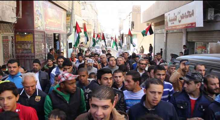 Al-Baqaa was one of the first areas in the Kindgom to start protests against Trump's announcement of moving the US embassy to Jerusalem.
