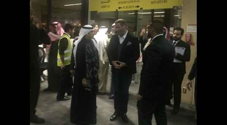 Hollywood star, John Travolta, arrives to Saudi Arabia. (Photo from: Social Media)