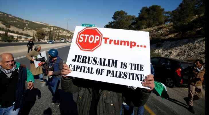 Protests against Trump's decision. (AlJazeera.net)
