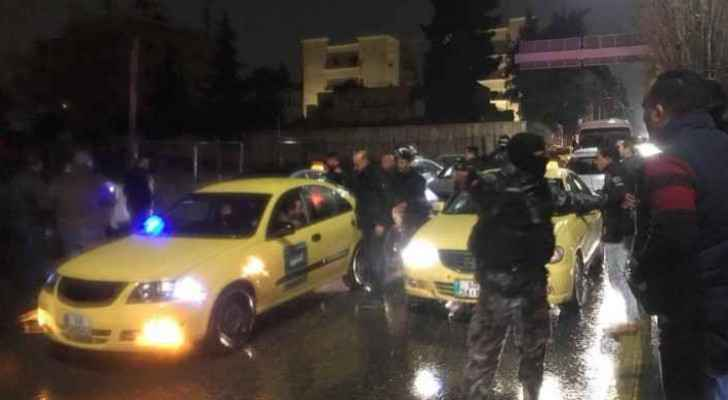 Taxi drivers blocked the streets by fourth circle in protest. (File)