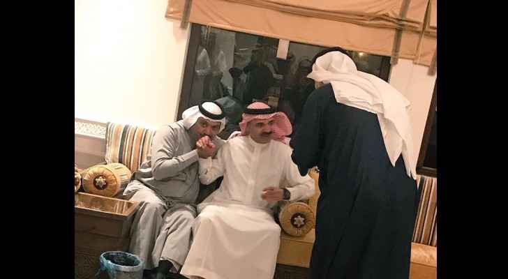 Photos for Ibrahim al-Assaf, a former finance minister and board member of Saudi Aramco after release. (Twitter: @saudistuf)