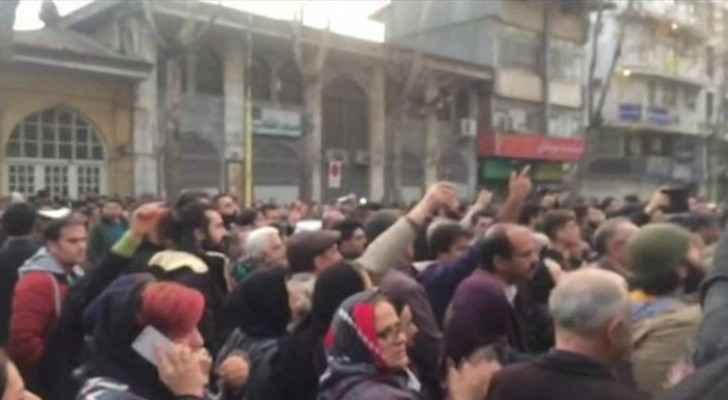 Thousands take to the streets of Iran. (Twitter)