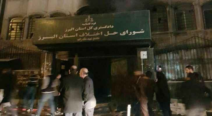 An unverified photo showing extensive damage to the prosecutors office in Iran's Karaj. (Twitter)