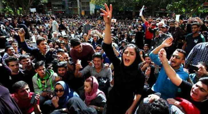 Continuous Protests in Iran. (Roya Arabic)