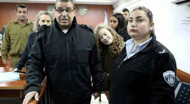 Ahed during her Monday's hearing in the court. (Facebook: Bassem Tamimi-Ahed's Father)