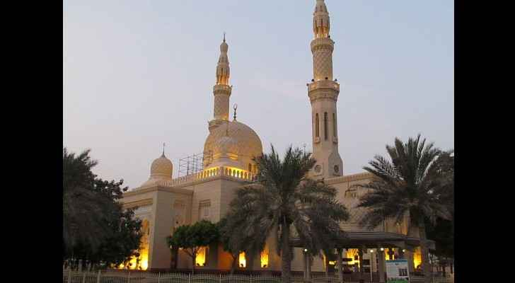 The incident took place in a mosque in Dubai - not the one shown in the picture. (Wikipedia)