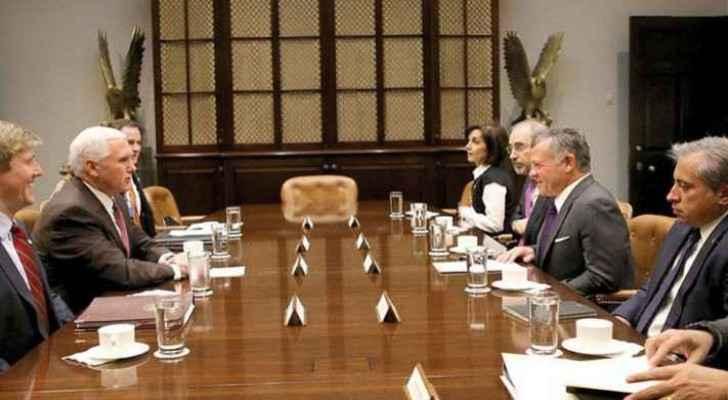 The Jordanian King Abdullah II met Pence in Washington last Novemeber. (Roya Court)