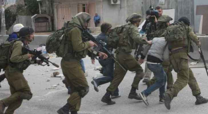 Israeli forces detain Palestinians in the West Bank.