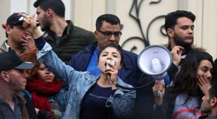 Tunisian women calling for social justice. (Reuters)