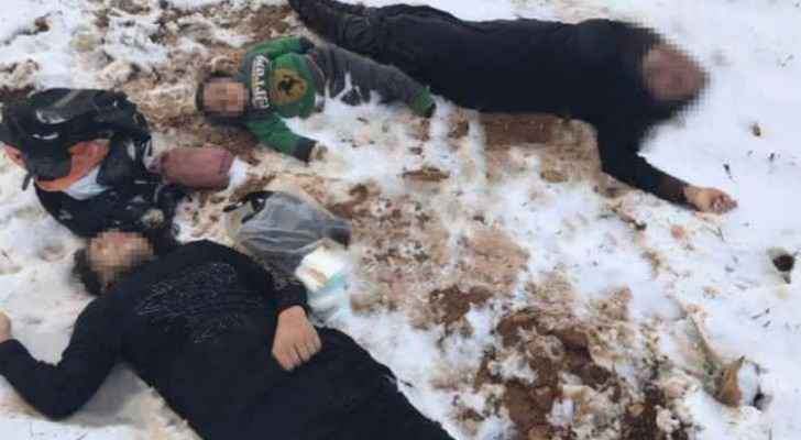 Pictures of the frozen bodies went viral on social media