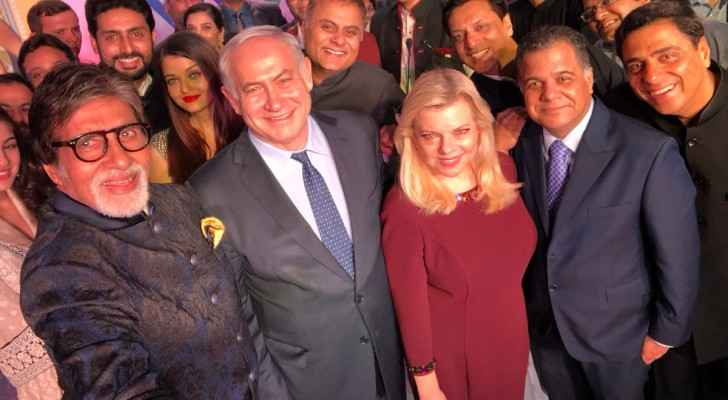 Netanyahu's selfie with Bollywood stars and producers. (Twitter)