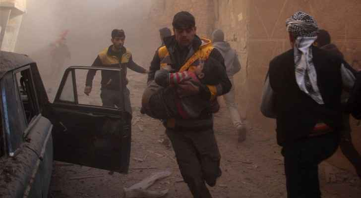 The White Helmets, the Syrian Civil Defence, are evacuating victims in Douma, Eastern Ghouta. (TheWhiteHelmets)