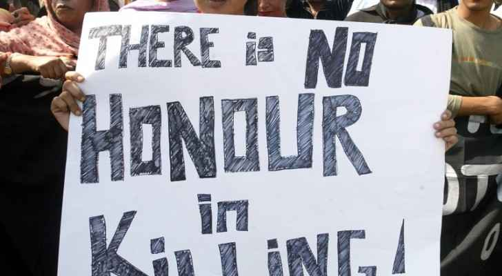 Getty image from a protest in Pakistan against honor crimes. (Reuters)