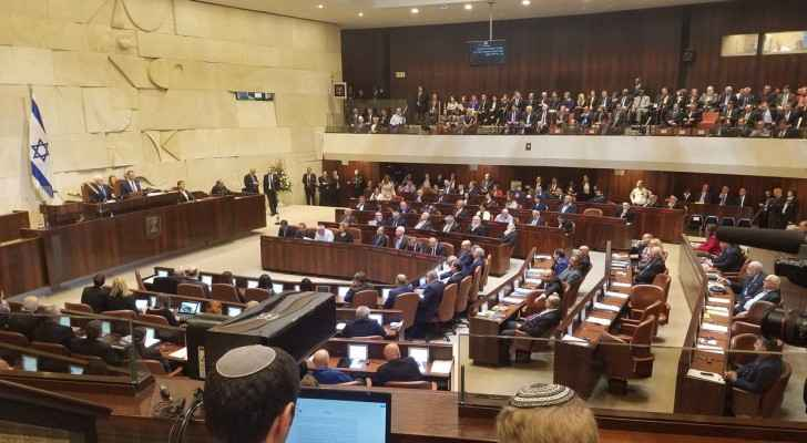 The Knesset during today's special session with US VP Mike Pence. (Twitter)
