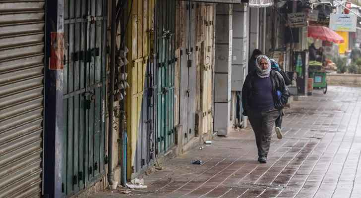 Ramallah shops closed as part of the strike. (Pal.Info.Center)