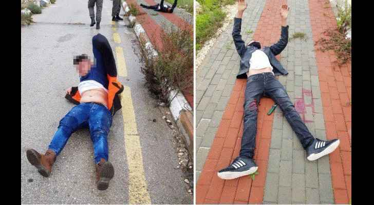 The two youths while injured on the ground. (PalInfoCenter)